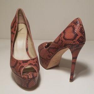 BRIAN ATWOOD Leather BAMBOLA Peep Toe Heel NWOB 10
